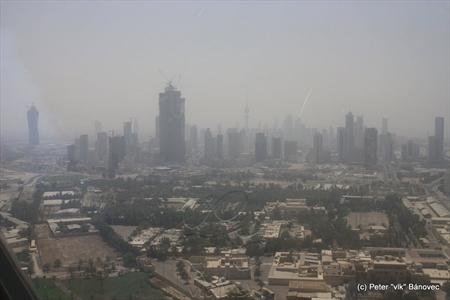 Pohľad na mesto Kuvajt z KUWAIT TOWERS
