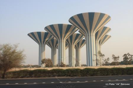 Jedným zo symbolov Kuvajtu sa stali vodné veže