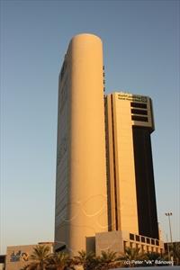 KUWAIT FINANCE HOUSE building - jedna z vysokých stavieb v Kuvajte (centrum)