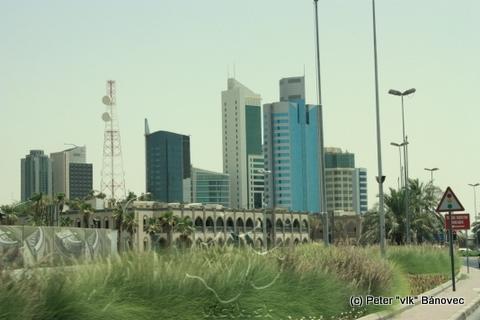 Kuwait city pri pohľade z auta
