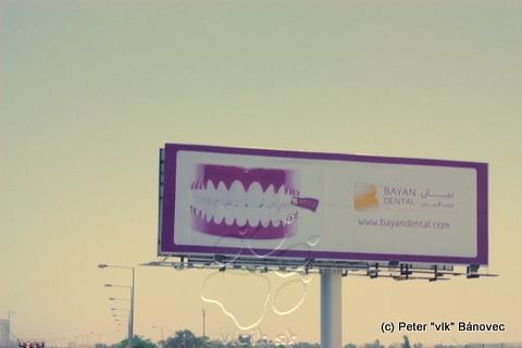 Reklamy nájdete aj v Kuwaite, ale iba v malom rozsahu v porovnaní so Slovenskom