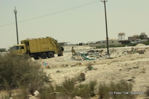 Vyhadzovanie odpadu do púšte