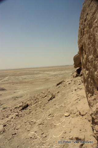 Zo skaly bol krásny výhľad - na púšť...