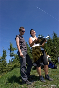 Marianka prednáša báseň z vrcholovej knihy... tak to bol vrchol!