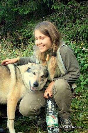 Vlčica Zuzka a môj pes Časke