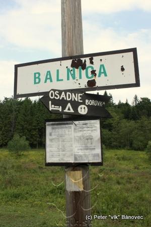 stanička Balnica - označník zastávky