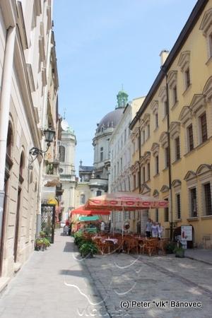 bočné uličky centra mesta