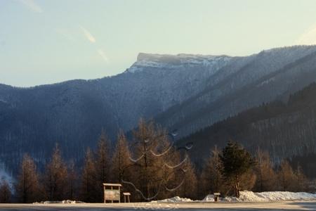 Pohľad na najvyšší vrch Lúčanskej Malej Fatry Kľak z Fačkovského sedla