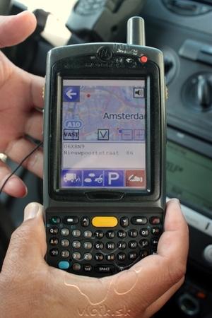 PDA na kontrolu vozidiel zaznamenáva ja jeho GPS polohu