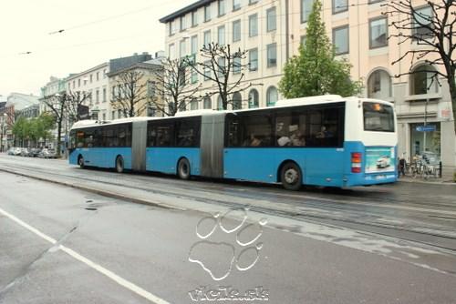 dvojkĺbové, alebo inak trojčlánkové VOLVO systému BRT v Gothenburgu