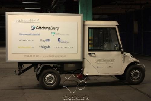 elektro vozítko zabezpečujúce zásobovanie centrálnej časti mesta ekologickým spôsobom