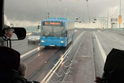 autobusová MHD využíva spoločné pruhy s električkami