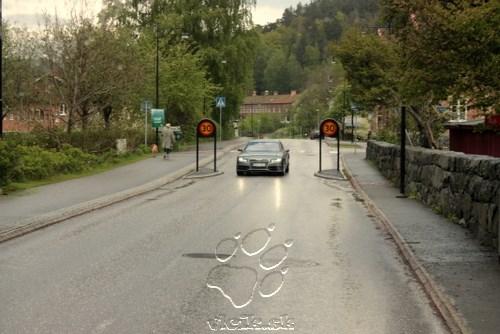 iný príklad dopravných opatrení - zníženie rýchlosti vozidiel v území ich obmedzením