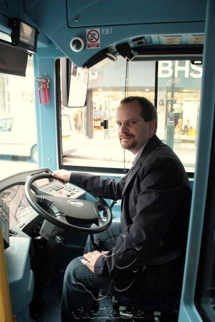 za volantom elektrobusu