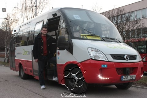 Andrej ako testovací vodič elektro midibusu