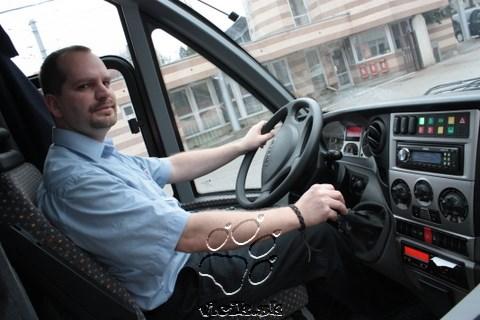 pracovisko vodiča elektro midibusu