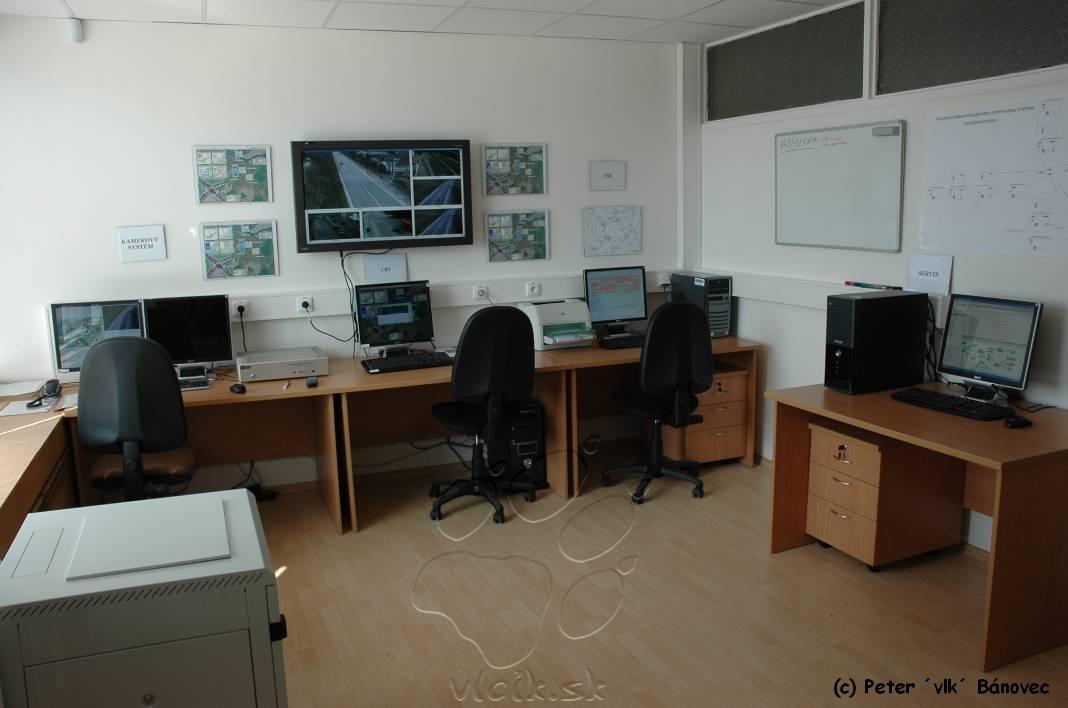 kontrolná miestnosť inteligentného systému križovatky Pošta v Považskej Bystrici