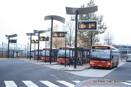 autobusová stanica Almelo, NL; ktorú sme navštívili v rámci projektu ATTAC